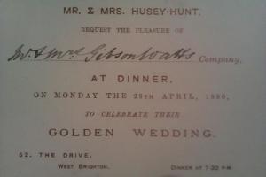 Golden Wedding Invitation, 1890